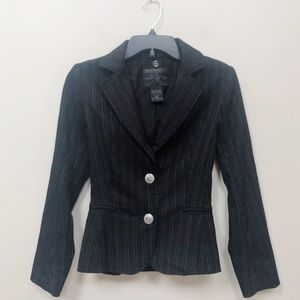 True Religion Pinstripe Blazer Jacket XS